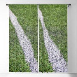 Sideline football field, Sideline chalk mark artificial grass soccer field Blackout Curtain