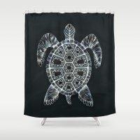 turtle Shower Curtains featuring Turtle by Adrianna Grężak