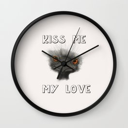 Kiss Me, My Love Wall Clock