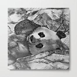 AnimalArtBW_Panda_20170602_by_JAMColorsSpecial Metal Print