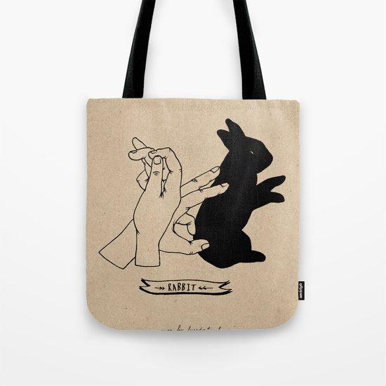 Hand-shadows Mr rabbit Tote Bag