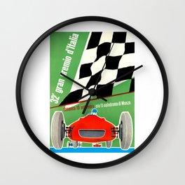 1961 Italian Grand Prix Advertising Poster Wall Clock