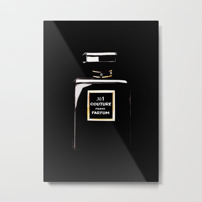 Black Parfum on black Metal Print