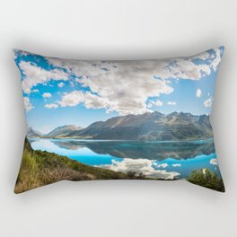 Lake Wakatipu Panorama at Golden Hour Rectangular Pillow