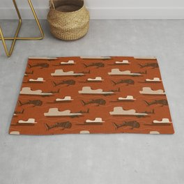 Whale Shark Orange #nautical #whaleshark Rug