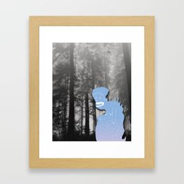 Monster in Forrest Framed Art Print