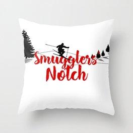 Ski at Smugglers' Notch Throw Pillow