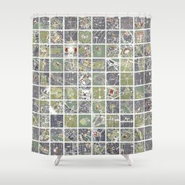 20 cities 20 Shower Curtain