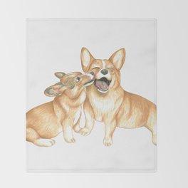 Corgi and Bess Throw Blanket