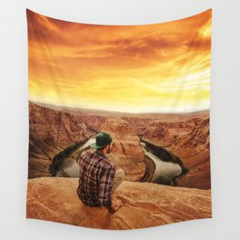 on top of canyonlands Wall Tapestry