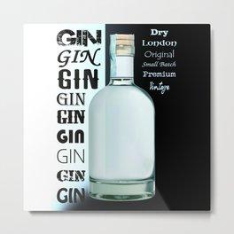 Bottle of Gin Metal Print