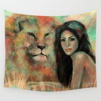 king Wall Tapestries featuring King by Slaveika Aladjova