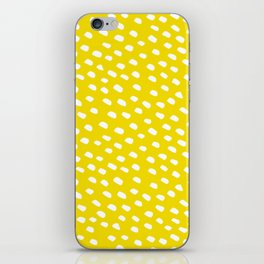 Brush Dot Pattern Yellow iPhone Skin