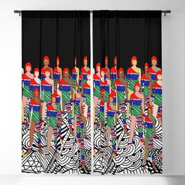 Red Headed Dolls Blackout Curtain