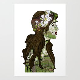 April in the Apple Blossoms Art Print