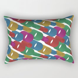 3D X Pipes Rectangular Pillow