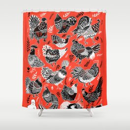 Lil Cluckers Shower Curtain