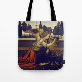 "Leonardo da Vinci ""Annunciation"" The Archangel Gabriel Tote Bag"