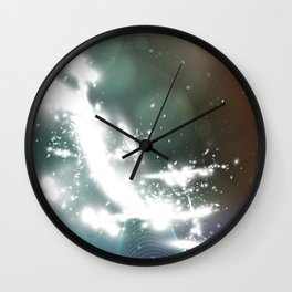 abstract background with highlights Wall Clock