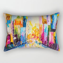 RAINING IN THE CITY Rectangular Pillow