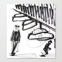 ski Canvas Prints featuring Ski time by AdaKlein