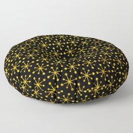 Art Deco Vintage-Retro Gold and Black Pattern Floor Pillow
