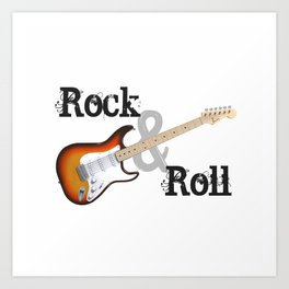 Rock and Roll Guitar Art Print