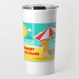 The Beach Alpaca The Towels Travel Mug