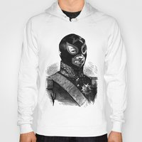 wrestling Hoodies featuring Wrestling mask 2 by DIVIDUS DESIGN STUDIO