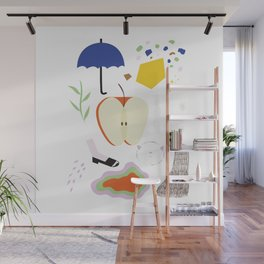 Fruit & Shapes Wall Mural