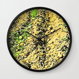 Hortus Conclusus: potatoes among the clods Wall Clock