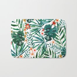 TROP DON'T STOP Tropical Palms and Monstera Bath Mat