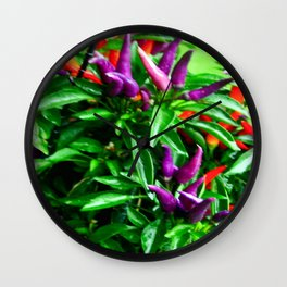 Chilli Peppers Wall Clock