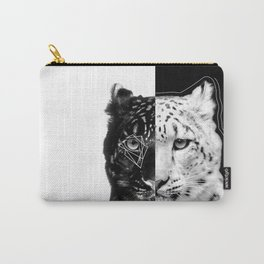 Split snow leopard Carry-All Pouch
