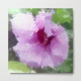 Pink Rose of Sharon Metal Print
