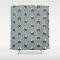 rogue Shower Curtains featuring Rogue Squadron by Juan Martos