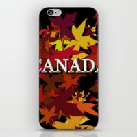 canada iPhone & iPod Skins featuring Canada by megghan18