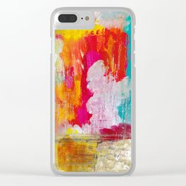 BURST OF COLOUR Clear iPhone Case