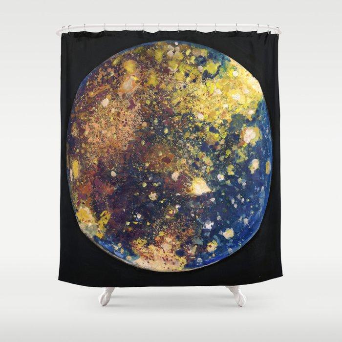 Callisto Moon of Jupiter Shower Curtain