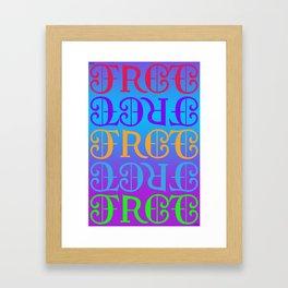 FREE/LOVE Framed Art Print