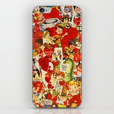 Vintage Valentine Cards - Love, Humor, Funny, Mermaids, Seahorse, Red Hearts,Couples, Reto Inspired iPhone & iPod Skin