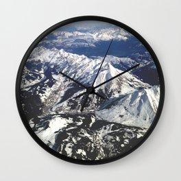 Alpes en avion Wall Clock