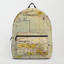 Vintage Map of Hawaii (1901) Backpack