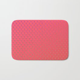 Ombre rainbow stars on red background Bath Mat