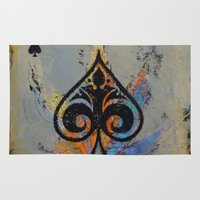 ace Area & Throw Rugs featuring Ace by Michael Creese