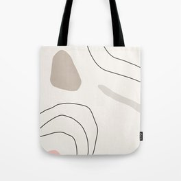 Abstract print, Home decor, Geometric art, map print map poster, Wall prints, Minimalist art, Scandi Tote Bag