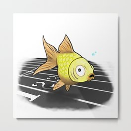 The Neepa Goldfish Metal Print