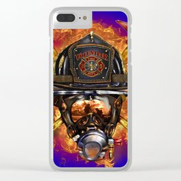 Firefighter rescue volunteer Clear iPhone Case