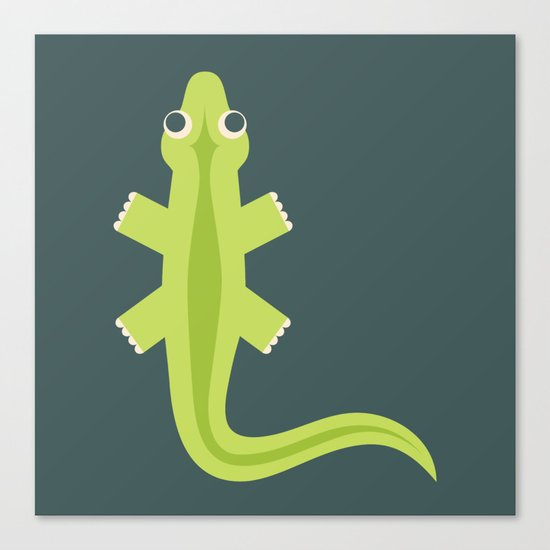 Letter L // Animal Alphabet // Lizard Monogram Canvas Print