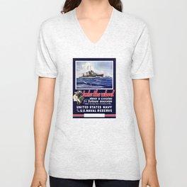 Take The Wheel -- United States Navy Unisex V-Neck